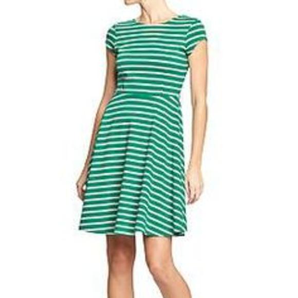 5ef29b274c4c Old Navy Dresses | Green White Striped Dress | Poshmark