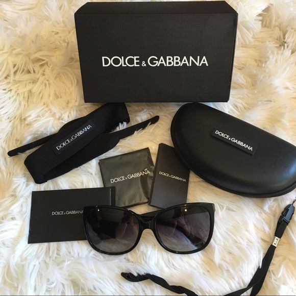 2fbc17c00133 Dolce   Gabbana Accessories - D G black oversized square butterfly  sunglasses