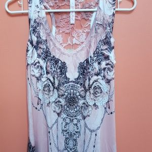 NWT Pretty Angel Uneven hem lace back dress