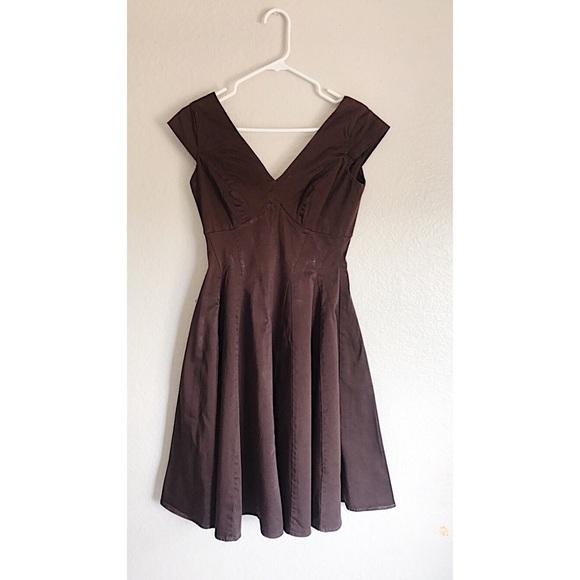 b10e04a8f7e Calvin Klein Dresses   Skirts - Calvin Klein Brown Cap Sleeve Fit   Flare  Dress