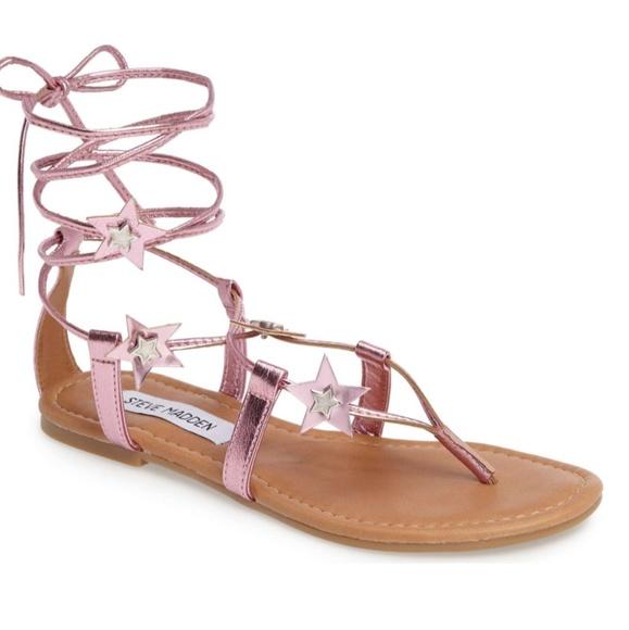 43a35c5b6a2 Steve Madden Jupiter Lace Up Sandal Pink 9M NIB. M 596ba506f0137d26dd00c511