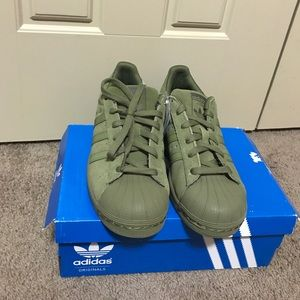 adidas Shoes   Olive Green Shell Toes