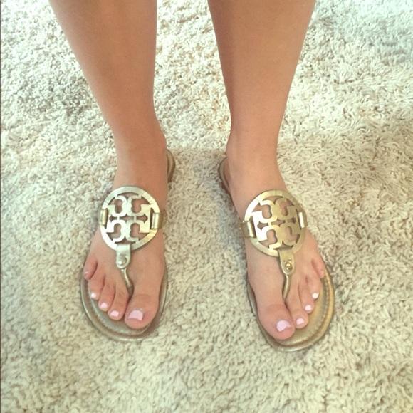 Gold Tory Burch Miller Sandals | Poshmark