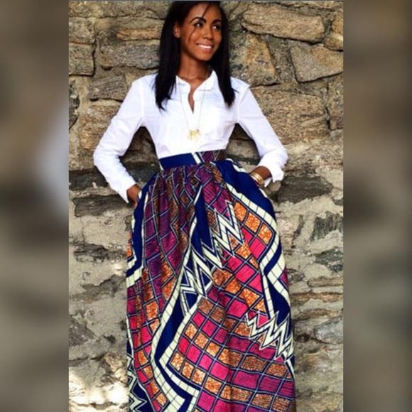 9b4413739a Dresses & Skirts - African Ankara Dashiki Maxi Skirt -Final Price-