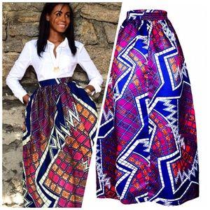 7c7a0360f1 Skirts | African Ankara Dashiki Maxi Skirt Final Price | Poshmark