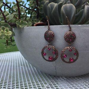 Jewelry - Drop Dangle Pink Earrings