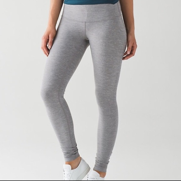 4101d9d907c80 lululemon athletica Pants | Lululemon Light Gray Full Length ...