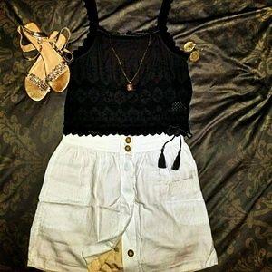 🔥Hot!🔥J. Crew White Linen Skirt