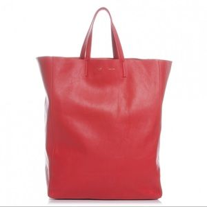 Céline Vertical Cabas Tote - Red 100% AUTHENTIC