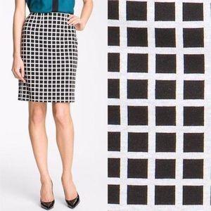 Black + White Grid Skirt