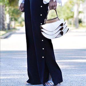 Zara pearly white trousers