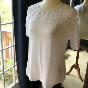 J. Crew Embroidered Eyelet T-Shirt Size S NWT
