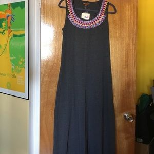 Hive & Honey Maxi Dress with Neon Bead Appliqué