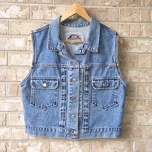 Jean Jackets & Vests on Poshmark
