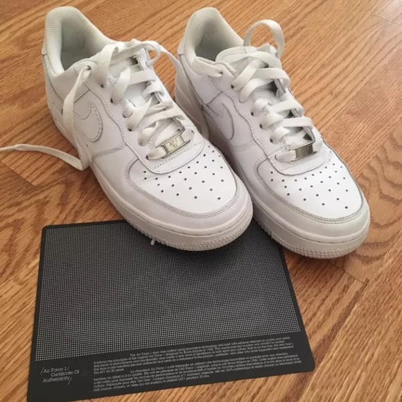 2007 White Nike Air Force Ones (GS) Size 5.5Y