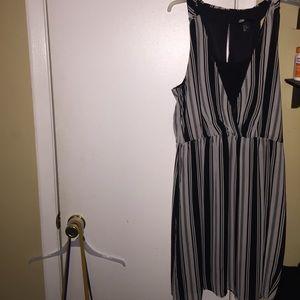 Black and white stripe H&M dress