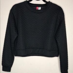 H&M Cropped Crewneck Sweatshirt