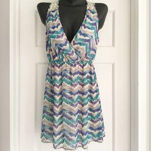 Forever 21 Sleeveless Chevron Dress Size S