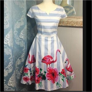 Flamingo Summer Dress