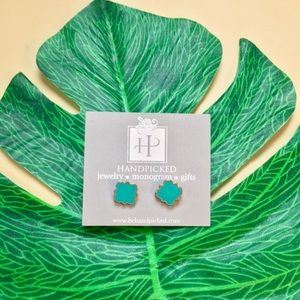 Jewelry - NWT turquoise and gold studs