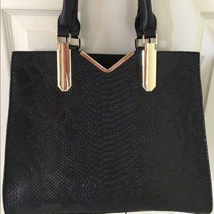Handbags - NWOT BLACK PYTHON HANDBAG