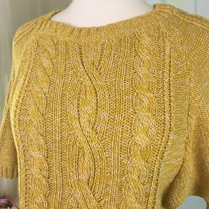 LOFT Sweaters - LOFT Gold Short Sleeved Sweater