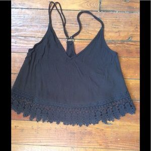 Ecote racerback tank with lace detail