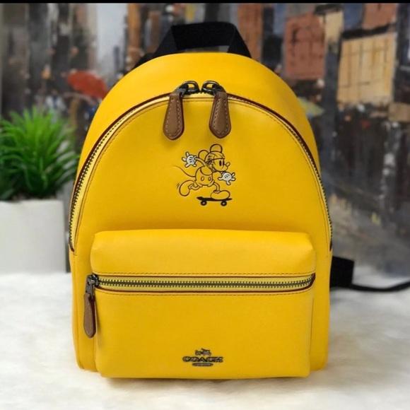 b6a76e32977 Coach Handbags - COACH Disney X MICKEY MINI CHARLIE BACKPACK