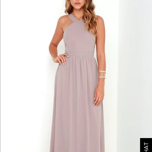 Lulu\'s Dresses | Air Of Romance Taupe Maxi Dress | Poshmark