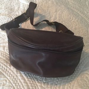 Coach leather fanny pack adjustable