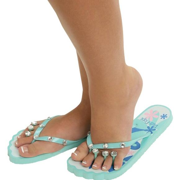 49bd32776a69 NWT Pedi-Flops from Key West Pedicure Flip Flops
