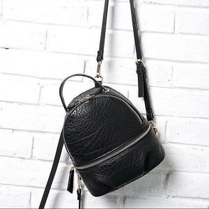 ZARA CONVERTIBLE BACKPACK W/ CHAIN STRAP