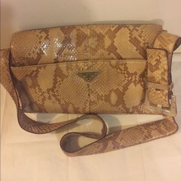 e84ffe0651f6cd Prada Bags | Authentic Python Bag | Poshmark