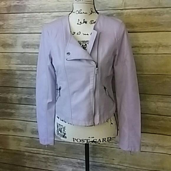 professional website deft design shop for Pastel Purple Moto Faux Leather Jacket Size Small