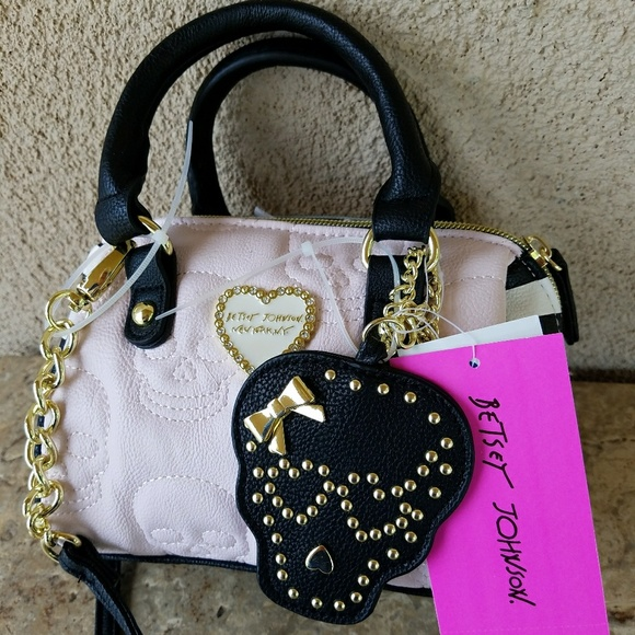 1c9d0886b5d Betsey Johnson Bags   Mini Skull Satchel Crossbody Bag   Poshmark