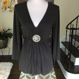 Daisey Fuentes top with embellishments. Size small