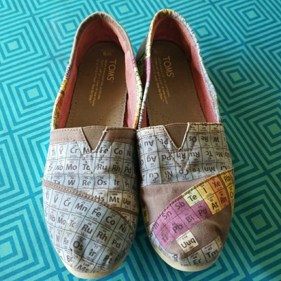 Periodic Table Toms Size 7ip Ons Toms Periodic Table Mens