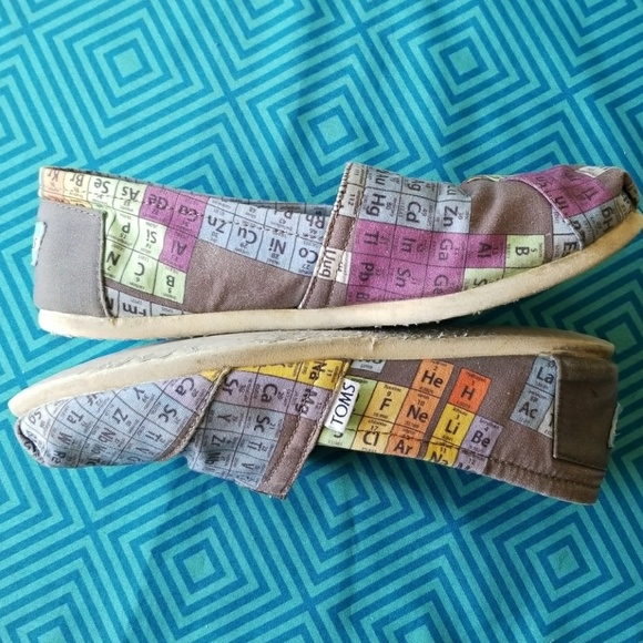 Toms Shoes The Periodic Table Of Elements Rare Poshmark