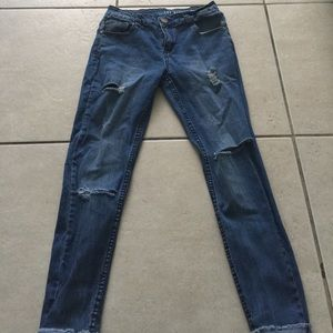 Denim - The ripped skinny jeans
