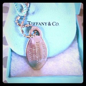 Tiffany tag (dog tag) necklace.
