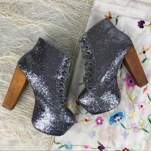Jeffrey Campbell Glitter Lita Platform Shoes