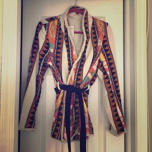 H&M NWT woven wrap jacket