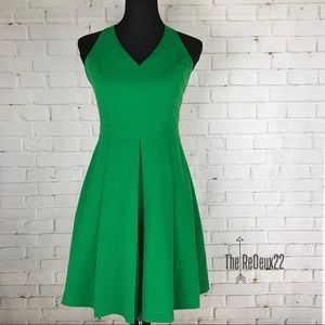 Adelyn Rae Green Fit and Flare Dress Size Small