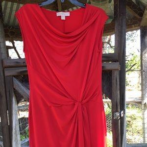 MK dress red midi