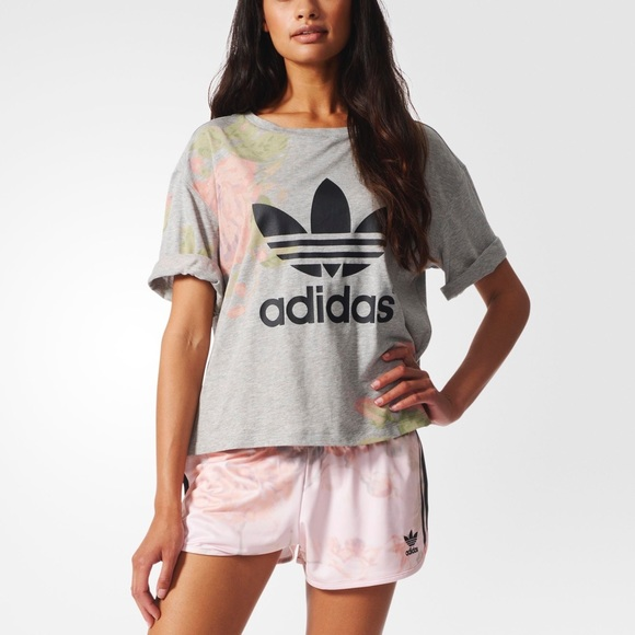 82839747a6 adidas Tops - Adidas originals pastel rose logo tee small