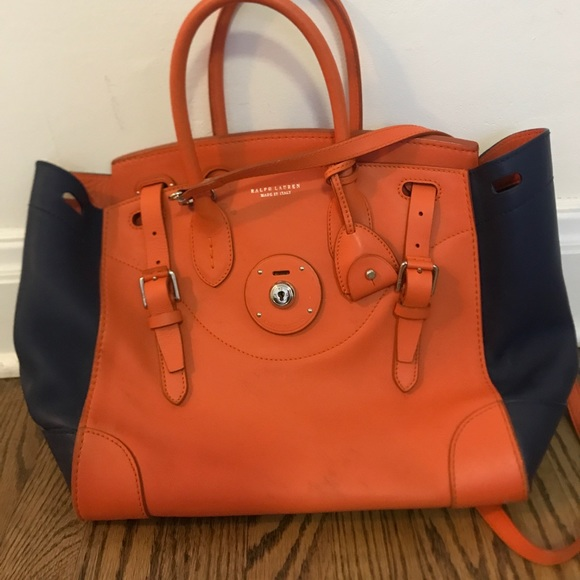 ace8ac2b08ce ... coupon code for ralph lauren orange navy ricky bag 9a710 bb690 ...
