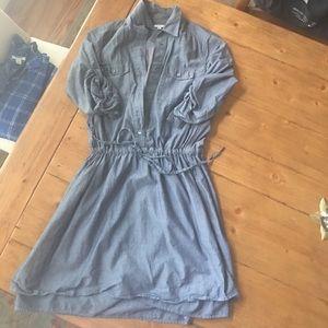 Lightweight chambray dress