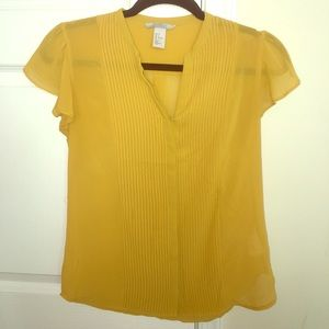 H&M mustard blouse