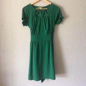 Gianni Bini Green lined tie back dress