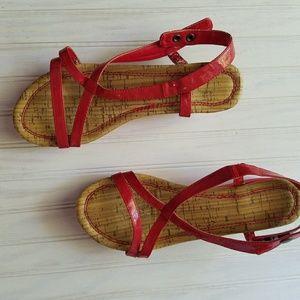 Avon Red Sandals